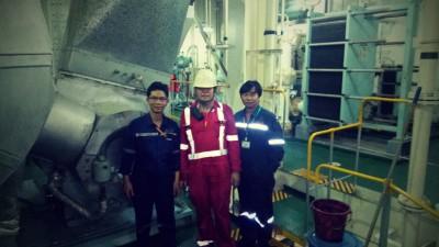 Bảo dưỡng định kỳ tua bin tăng áp khí xả MET53MA tàu MARITIME LONGEVITY